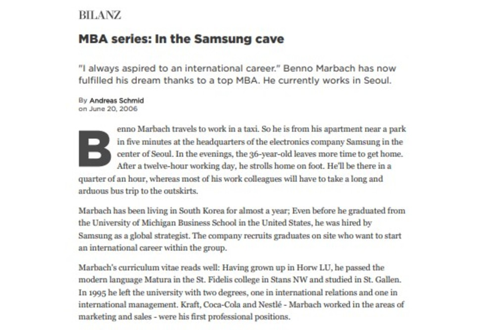 MBA series: In the Samsung cave